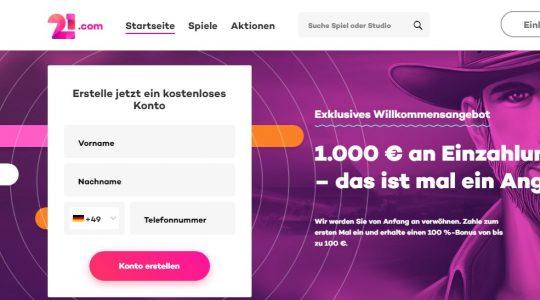 21.com Spielbank